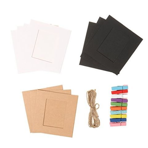 10Pieces 3Inch Paper DIY Wall Picture Hanging Frame Album Rope Clips Set