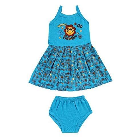 Sixer Baby Wake Up Girls Frock Set - Turquoise