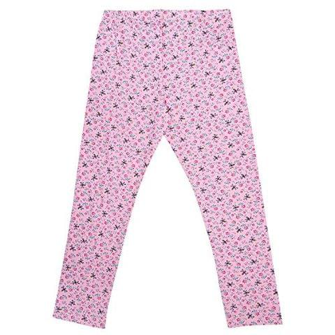 Charm n Cherish Pink Floral Printed Leggings for Kids (GW111)