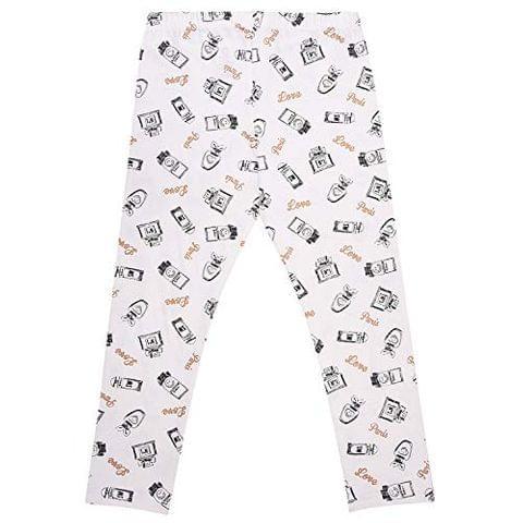 Charm n Cherish All Over printed White Leggings for Kids (GW112)