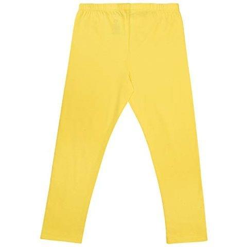 Charm n Cherish Solid Yellow Leggings for Kids (GW113)