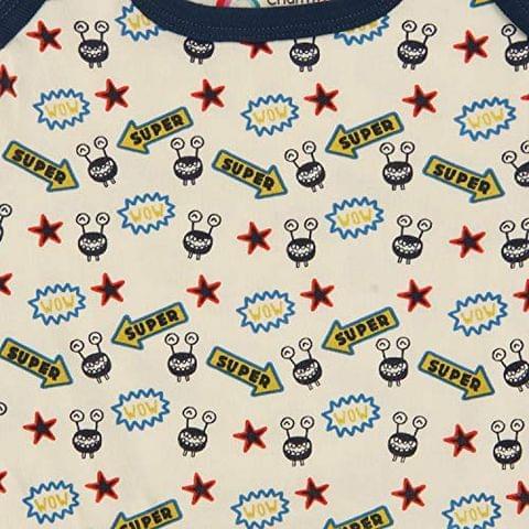 Charm n Cherish Baby boy Short Sleeve Cotton Halfsleeve Body Suits (Pack of 2) BB016 (6-9 Months)