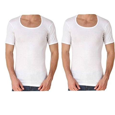GBROS Half Sleeve Cotton Vest Pack of 2 Innerwear
