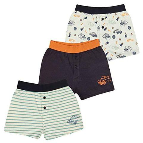 Charm n Cherish Kids Cotton Boxers (Pack of 3)(Multicolor_BW002)