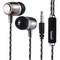 S2 Bass Stereo Sound Generally In-ear Wire Control Earphone with A Pair Earplug Cap