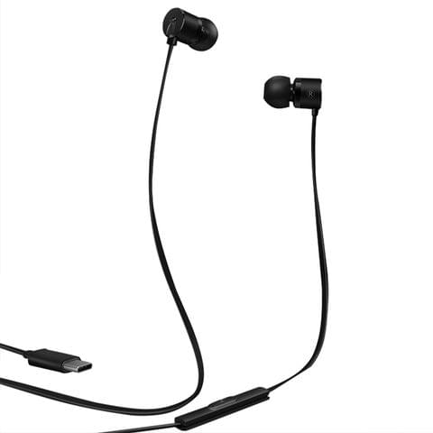 USB-C / Type-C Interface In Ear Wire-controlled Stereo Earphone for OnePlus 6T (Black)