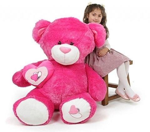 Side Pink Heart teddy Bear 80 Cm