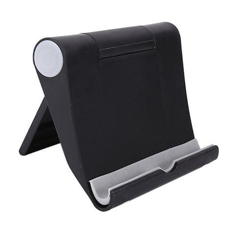 Universal Foldable Multi-function Rotating Tablet PC Mobile Phone Desktop Bracket Lazy Man Holder(Black)