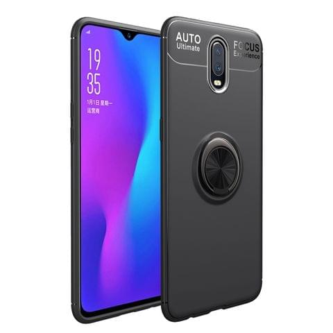 lenuo Shockproof TPU Case for OnePlus 7, with Invisible Holder (Black)