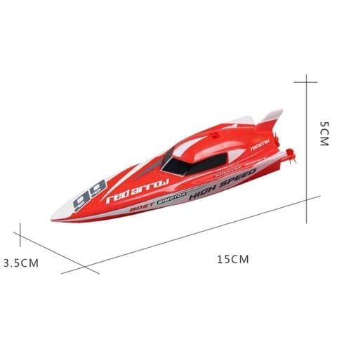 3312M 4-Channel 2.4GHz Mini Racing Boat RC Speedboat Kids Toy with Remote Controller(Red)