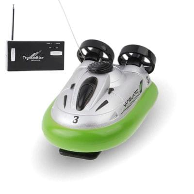 27MHz Radio Control Sport Hovercraft Size: 80 x 50 x 40mm (Light Green)