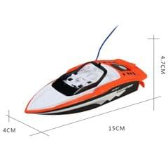 3392M 4-Channel 27MHz Rechargeable Mini Racing Boat RC Speedboat Children Toy with Remote Controller(Orange)