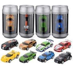 Coke Can Mini RC Car Radio Remote Control Micro Racing Car(Black)