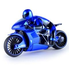 CSRC-22  2.4GHz Rechargeable Telecontrol Motorcycle Children Toy Simulation Model  High Speed Drift Car with Remote Controller (Blue)