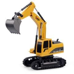 258-1 6 Channel 2.4G 1/24RC Remote-controlled Engineering ABS Excavator Charging RC Car