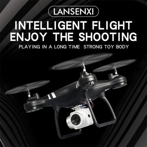 LanSenXi LF608 2.4G 4CH 30W High Definition Aerial Foldable Wifi FPV Selfie RC Helicopter Drone Quadcopter (White)