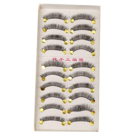 10 Pairs Handmade Soft Cross False Eyelashes Beauty Makeup Long Eye lashes