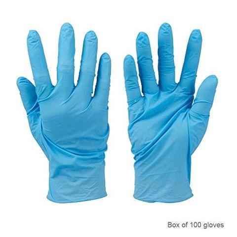SURGICOMFORT Nitrile Examination Gloves (Medium-100 Pcs)