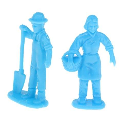 Eassycart Worker Figure Layout Labourer Miniatures Figure 4.5cm for Sand Table Model