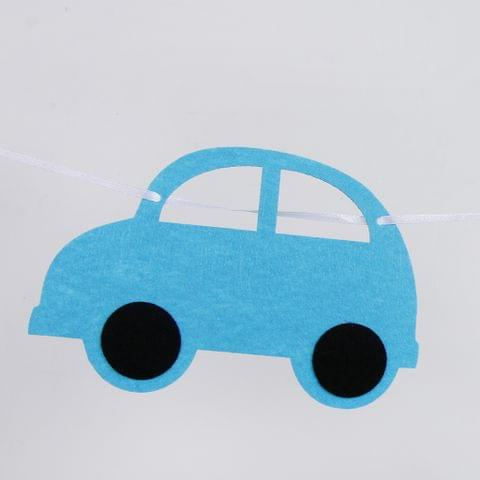 Eassycart Lovely Automobile Bunting Banner Kids Birthday Baby Shower Hanging Decor 3 Meters
