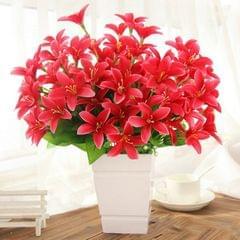 5 PCS Artificial Flower Home Decoration Wreath Fake Flowers, Random Color Delivery