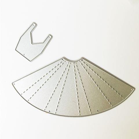 10 PCS DIY Scrap Booking Skirt Metal Cutting Dies
