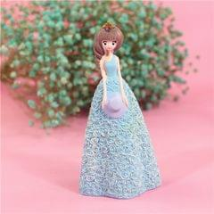Pretty Skirt Girl Style Resin Crafts Ornaments Room Decoration, Size: 11*10*23.5cm (Blue)
