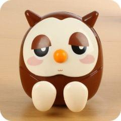 Universal Plastic Cute Owl Kawaii Book Holder Lazy Stand Tablet Desk Candy Color  Money-box Office Supply(Coffee