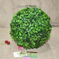 Artificial Aglaia Odorata Plant Ball Topiary Wedding Event Home Outdoor Decoration Hanging Ornament, Diameter: 14.7 inch
