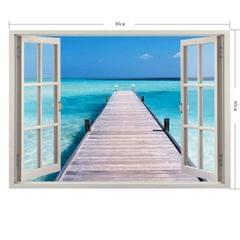 3D Scenery Window View Removable Wall Art Sticker, Size: 60 x 85 x 0.3 cm