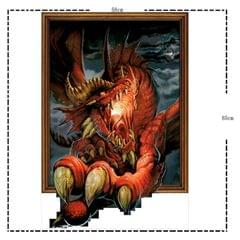 3D Dragon Removable Wall Art Stickers, Size: 85 x 58 x 0.3 cm