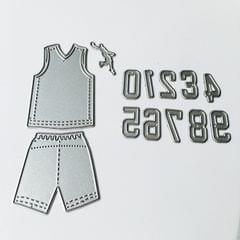 10 PCS DIY Scrap Booking Basketball Clothes Metal Cutting Dies
