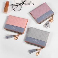 Cute Fashion Purse Leather Long Zip Wallet Coin Card Holder Soft Leather Phone Card Female Clutch(black)