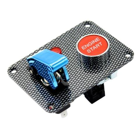 Eassycart Car Boat Engine Start Push Button Blue Cover Toggle Ignition Switch