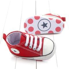 3 Pairs Canvas Classic Sports Sneakers Newborn Baby Boys Girls First Walkers Shoes Infant Toddler Soft Sole Anti-slip Baby Shoes(White Star)