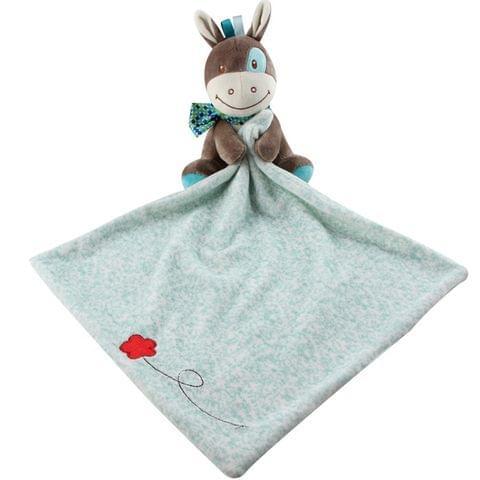 Baby Comforting Baby Multi-function Sleeping Plush Storage Blanket Cartoon Animal Towel(Dog)