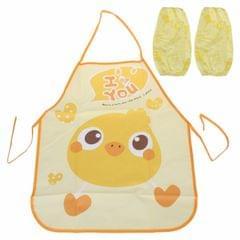 Cute Kids Apron Sleeves Waterproof Protection Set(Chick)