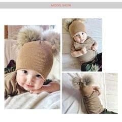 Children Hat Toddler Kids Baby Warm Winter Wool Hat(Beige)