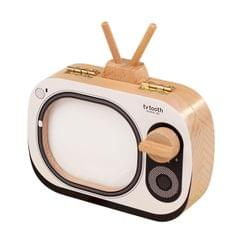 Creative Wooden Children TV Set Deciduous Tooth Preservation Box Baby Teeth Tooth House Storage Box