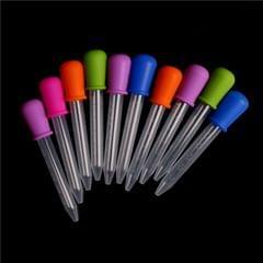 3 PCS 5ML Clear Silicone Small Plastic Feeding Medicine Liquid Graduated Pipette Dropper, Size: 12 x 2cm