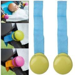 Baby Stroller Clip Blanket Clip Baby Kicking Preventing Clip, 2pcs in one packaging, the price is for 2pcs (Green)