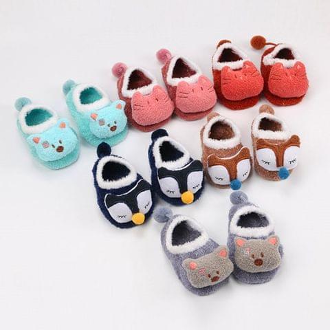 Newborn Cute Cartoon Soft Socks Animal Patter Baby Socks, Size:L(Gray Bear)