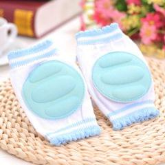 One Pair Ventilated Children  Baby Crawling Walking Knee Guard Elbow Guard Protecting Pads(Blue)