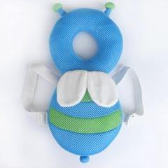 35cm Summer Breathable Blue Bee Pattern Shockproof Head Pad for Baby Children Waliking