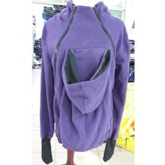 Three-in-one Multi-function Mother Kangaroo Zipper Hoodie Coat Size: S, Chest: 85-88cm, Waist: 65-67cm, Hip: 91-94cm (Purple)
