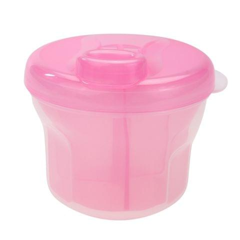 3 PCS Portable Milk Powder Formula Dispenser Food Container Infant Feeding Storage Box(Pink)