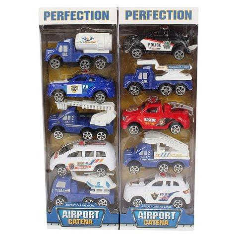Planet of Toys Pullback Police Series of 10 Cars