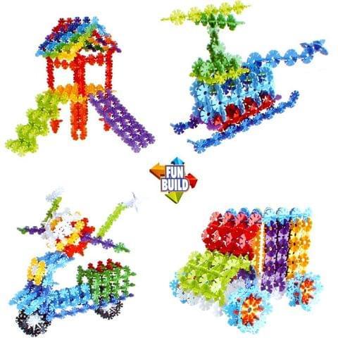 Planet of Toys 180 pcs. Stem Education Series Snowflake Blocks