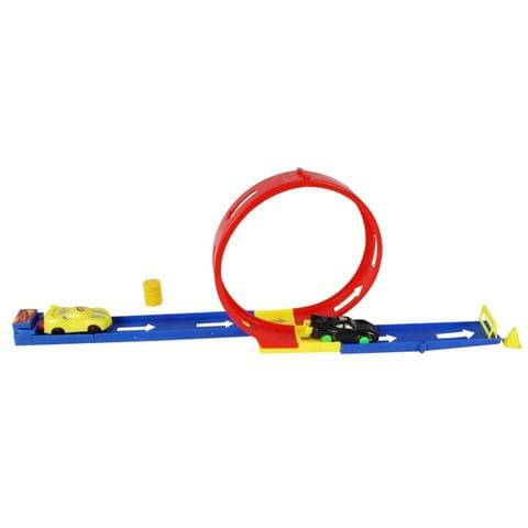 Planet of Toys Power Speed Hot Track Set 360 Degree Rail Ejection with 5 Cars
