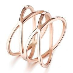 OPK Electroplated Bird Nest Hollow Design Fashion Ring for Women (Color:Rose Gold Size:5)